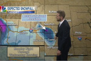 Snow possible early next week for the higher elevations of the Black Hills