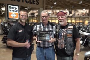 Gold Star Ride Foundation presents Black Hills Harley Davidson with plaque of appreciation