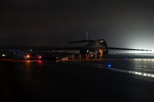 B-1B Lancers from Ellsworth AFB arrive at Andersen AFB for Bomber Task Force deployment