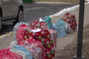 Christmas presents donated to Canyon Lake Elementary students as part of an annual tradition