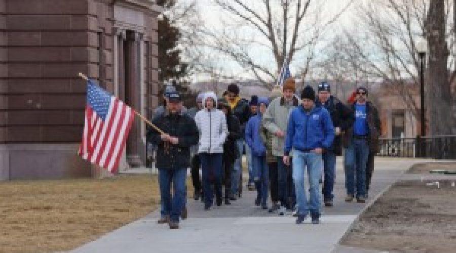 Peaceful prayer march held in Pierre