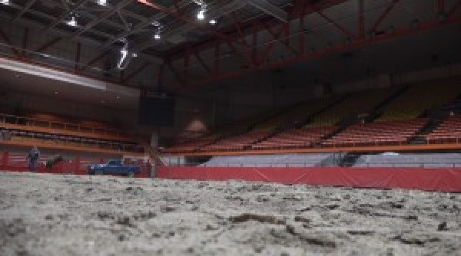 Dirt being prepared for Black Hills Stock Show and Rodeo, Rodeo Rapid City