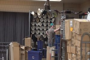 Move in day for vendors at the Black Hills Stock Show