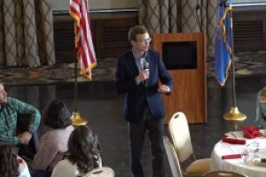 Dusty Johnson speaks at the Pennington County Republican Women's meeting