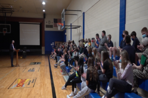 St. Thomas More Middle School students kick off National Catholic Schools Week by giving back
