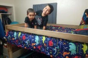 Local organization builds beds for children in need