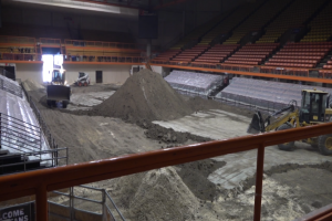 Stock Show cleanup begins in preparation for Sports and Outdoor Expo