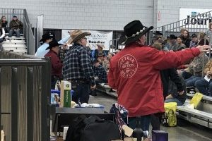Eighth Annual Stock Show Bid Calling Contest held at the Civic Center Sunday