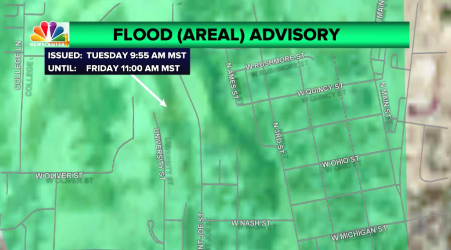 Flood Advisory for Spearfish Creek