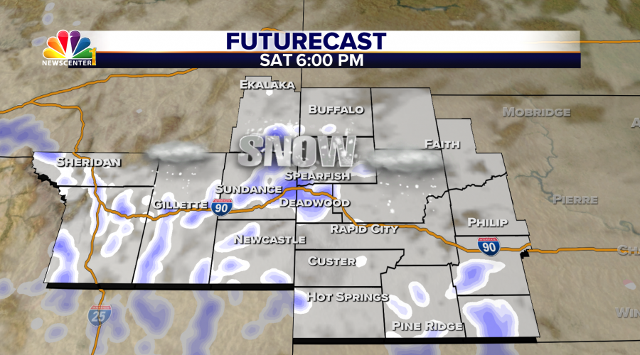 Winter Storm Bulletins Posted for the Black Hills: Heavy snow rates possible