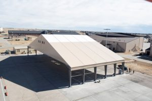 B-21 Prototype Environmental Protection Shelters construction, test underway at Ellsworth AFB