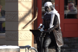 Deadline to place winter apparel on downtown statues is Monday, March 15