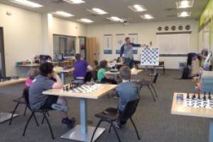 Chess lovers practice the art of the checkmate