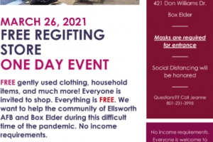 One day only event – free regifting store March 26 at Carrousel School in Box Elder