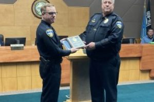 Two Spearfish police officers honored during City Council Meeting Wednesday