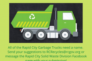 Rapid City Solid Waste holds naming contest for city garbage trucks