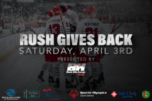 """Annual """"Rush Gives Back Night"""" and """"Teddy Bear Toss"""" coming up Saturday, April 3"""