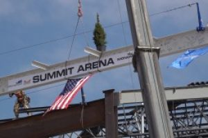 """""""Topping Out"""" Ceremony held at The Monument, Summit Arena"""