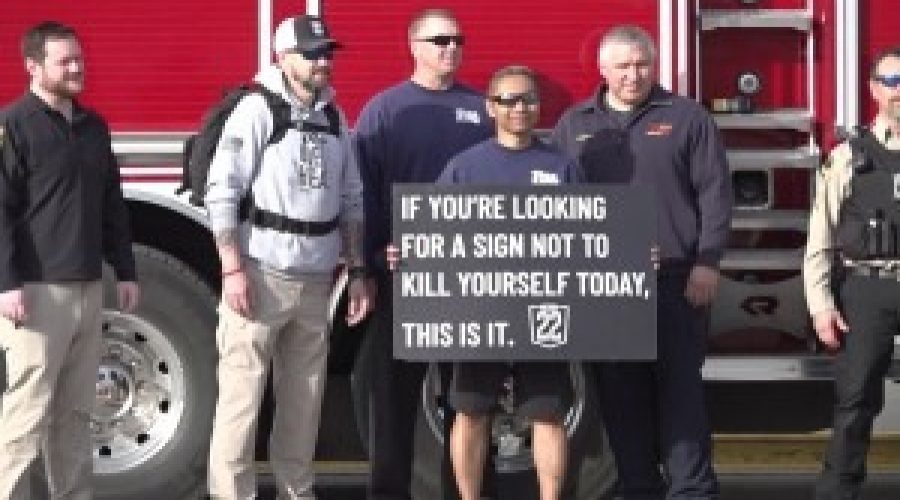 24 hour walk held by Mission 22 to raise awareness for veterans lost to suicide everyday