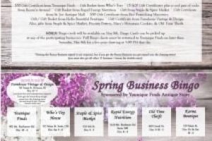 One day only: Spring Business Bingo set for May 8