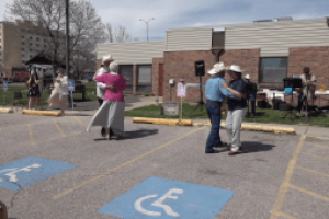 Senior citizen prom held outdoors to socially-distance guests