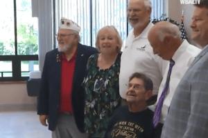 WATCH: World War II veteran celebrates 100th birthday
