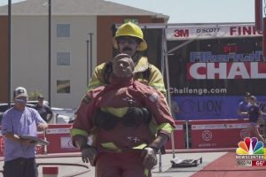 Firefighters complete first day of Firefighter Combat Challenge