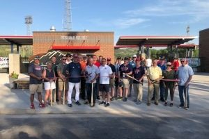 Officials cut the ribbon on the new Black Hills Surgical Hospital Ballpark