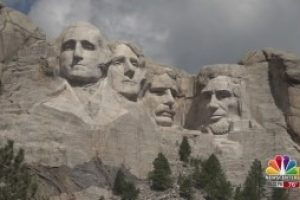 Crowds gather at Mount Rushmore for Fourth of July celebration