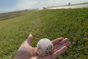 Golf-ball to tennis-sized hail reported near New Underwood