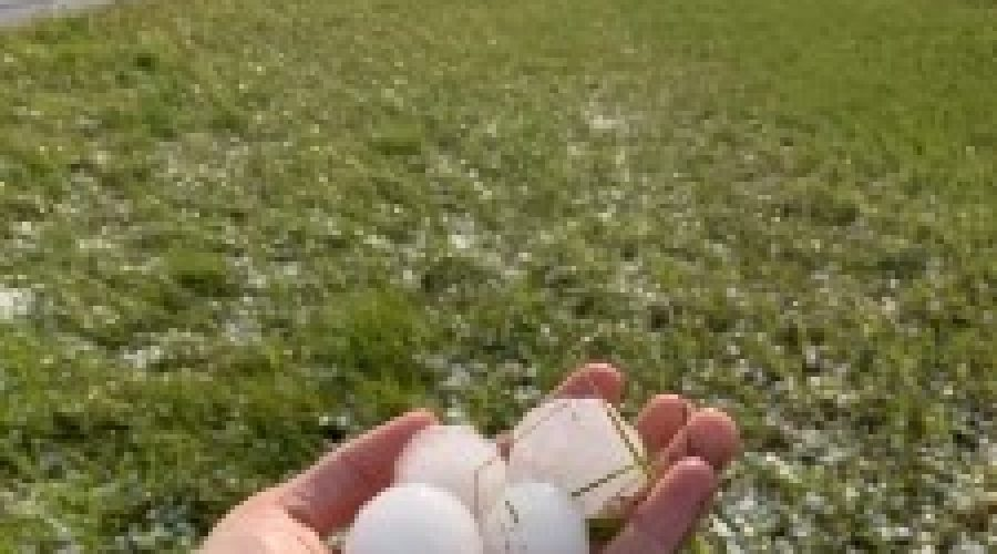 New Underwood residents left cleaning up pieces after large hail sweeps through area