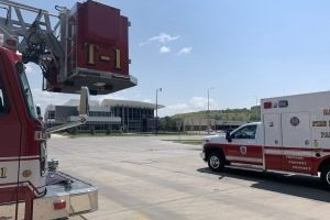 RCFD celebrates new ambulance with blessing and wetdown ceremony