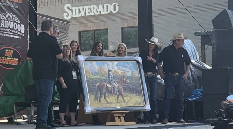 Painting of Governor Noem auctioned off for anti-trafficking charity