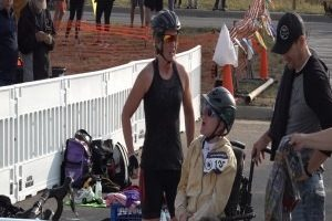 Competitors from far and wide attend the Southern Hills Triathlon