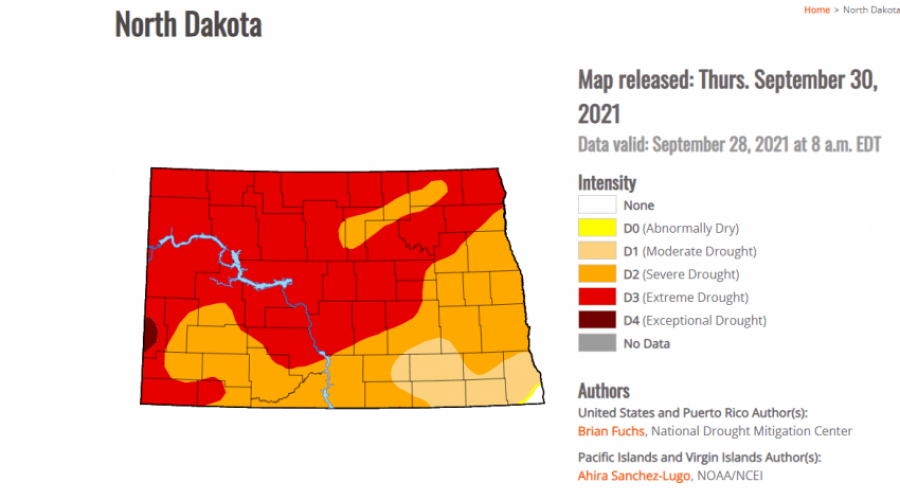 Drought worsens in NW North Dakota with warm temps forecast
