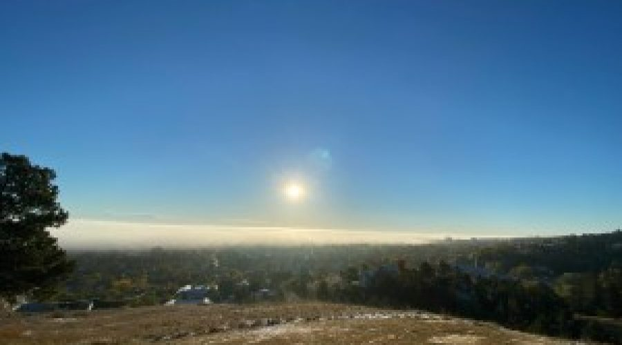 WATCH: timelapse showing early morning fog